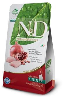 Natural&Delicious Pollo y granada kitten sin granos